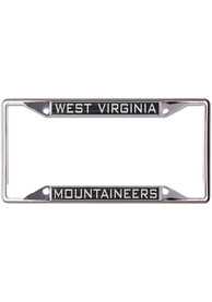 West Virginia Mountaineers Inlaid Black and Silver License Frame