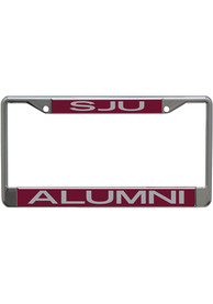 Saint Josephs Hawks Team Color Alumni License Frame