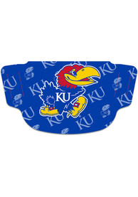 Kansas Jayhawks Repeat Logo Fan Mask - Blue