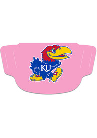 Kansas Jayhawks Team Logo Fan Mask - Pink