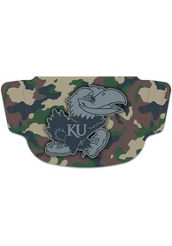 Kansas Jayhawks Camo Fan Mask - Brown