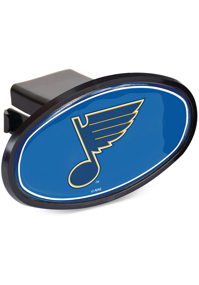 St Louis Blues Plastic Oval Car Accessory Hitch Cover - Image 1