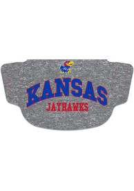 Kansas Jayhawks heathered Fan Mask - Grey