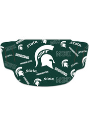 Michigan State Spartans Scattered Fan Mask - Green