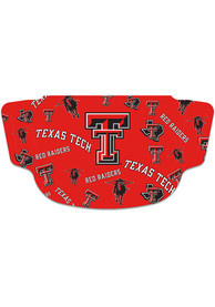 Texas Tech Red Raiders Scattered Fan Mask - Red