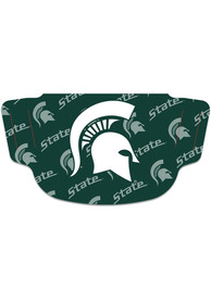 Michigan State Spartans Repeat Logo Fan Mask - Green