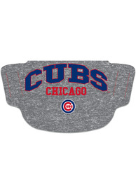 Chicago Cubs Heathered Grey Fan Mask - Grey