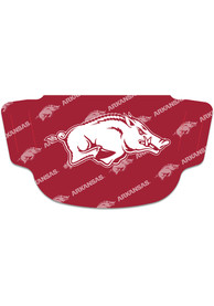 Arkansas Razorbacks Repeat Logo Fan Mask - Red