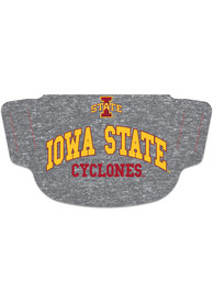 Iowa State Cyclones Heathered Grey Fan Mask - Grey