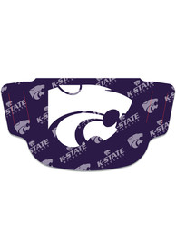 K-State Wildcats Repeat Logo Fan Mask - Purple