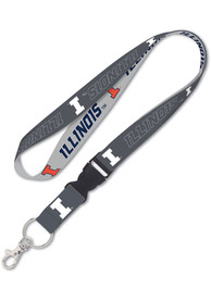 Illinois Fighting Illini Charcoal Lanyard
