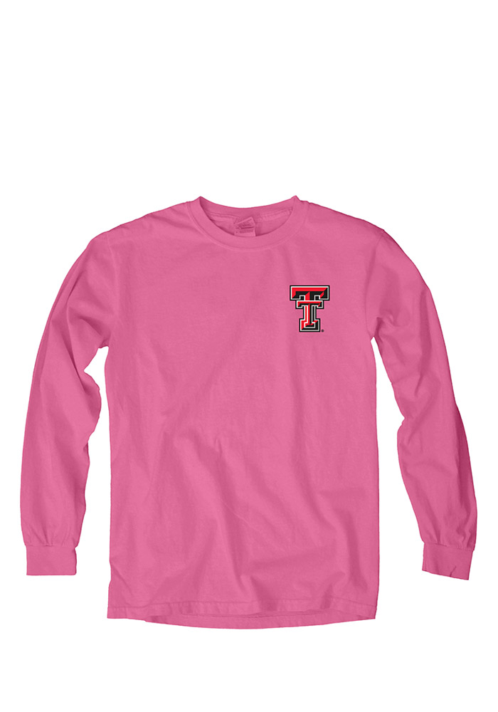 Texas Tech Red Raiders Womens Pink Paisley Lily LS Tee 571009