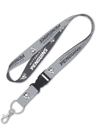 Pittsburgh Penguins Charcoal Lanyard