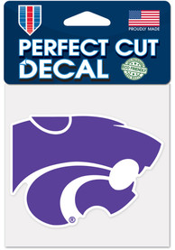 K-State Wildcats 4x4 Color Auto Decal - Purple