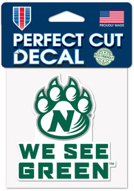 Northwest Missouri State Bearcats 4x4 Color Auto Decal - Green