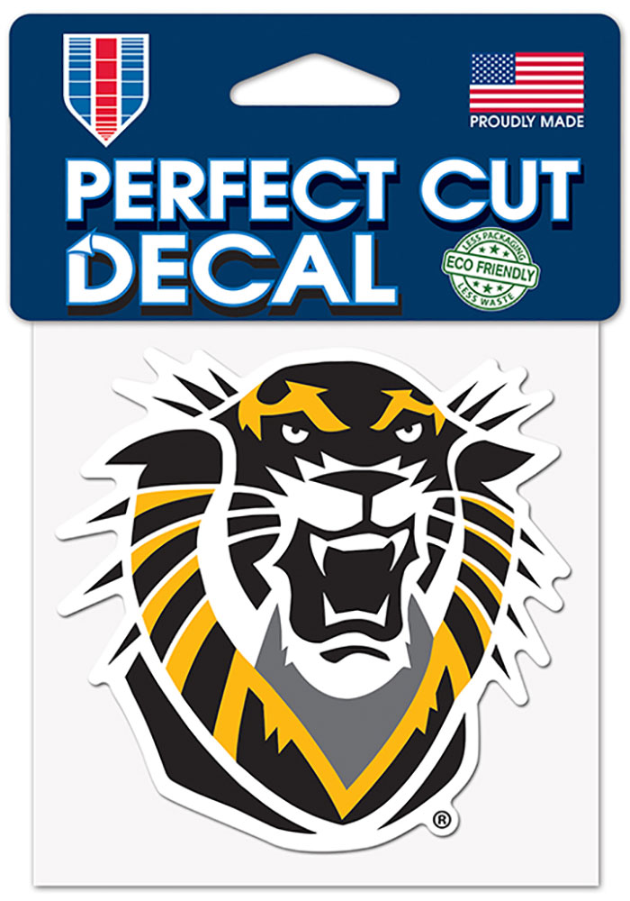 Fort Hays State Tigers 4x4 Color Auto Decal - Black - Image 1