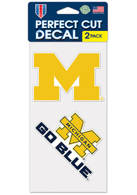 Michigan Wolverines 4x4 Set of 2 Auto Decal - Blue