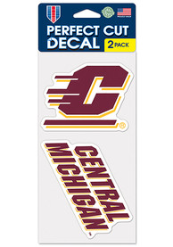 Central Michigan Chippewas 4x4 Set of 2 Auto Decal - Maroon