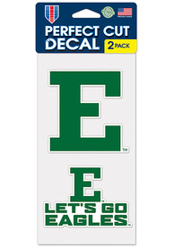 Eastern Michigan Eagles 4x4 Set of 2 Auto Decal - Green