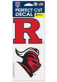 Rutgers Scarlet Knights 4x4 Set of 2 Auto Decal - Red