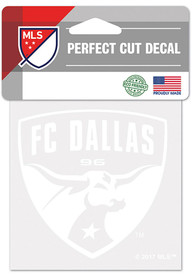 FC Dallas 4x4 White Auto Decal - White
