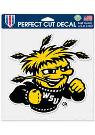 Wichita State Shockers 8x8 Color Auto Decal - Black