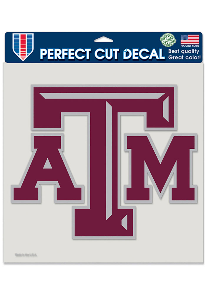 Texas A&M Aggies 8x8 Color Auto Decal - Maroon