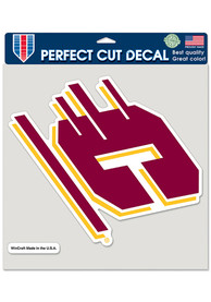 Central Michigan Chippewas 8x8 Color Auto Decal - Maroon