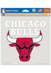 Chicago Bulls 8x8 Color Auto Decal - Red