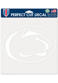 Penn State Nittany Lions 8x8 White Auto Decal - White