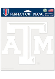 Texas A&M Aggies 8x8 White Auto Decal - White