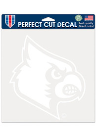 Louisville Cardinals 8x8 White Auto Decal - White