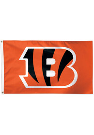 Cincinnati Bengals Basic Logo Orange Silk Screen Grommet Flag