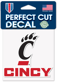 Cincinnati Bearcats 4x4 Auto Decal - Red