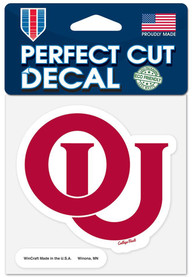 Oklahoma Sooners 4x4 Vintage Auto Decal - Red