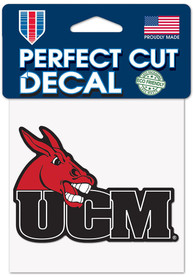 Central Missouri Mules 4x4 Auto Decal - Red