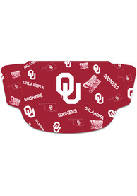 Oklahoma Sooners Scattered Fan Mask - Red