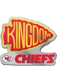 Kansas City Chiefs Kingdom Car Emblem - Red