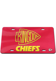 Kansas City Chiefs Kingdom Inlaid Car Accessory License Plate