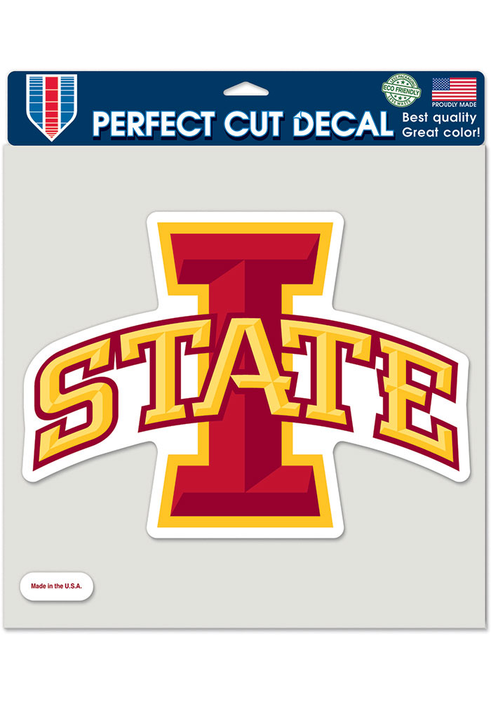 Iowa State Cyclones 8x8 Perfect Cut Auto Decal - Red