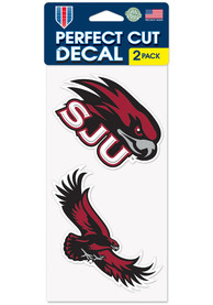 Saint Josephs Hawks 4x4 2 Pack Auto Decal - Red