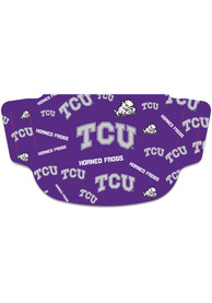 TCU Horned Frogs Scattered Fan Mask - Purple