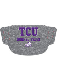 TCU Horned Frogs Heathered Grey Fan Mask - Grey
