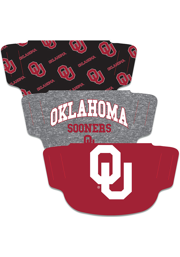 Oklahoma Sooners 3PK Fan Mask - Red