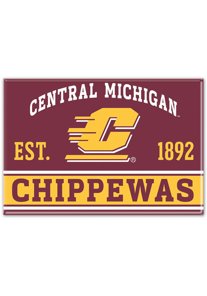 Central Michigan Chippewas 2x3 Magnet - Image 1
