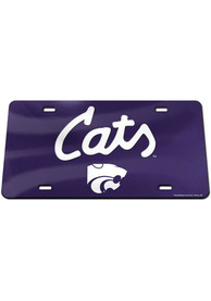 K-State Wildcats Cats Script Car Accessory License Plate
