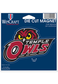 Temple Owls 4.5x6 die cut Magnet