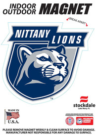 Penn State Nittany Lions 5x7 Car Magnet - Blue
