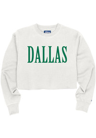 Dallas Women's White Long Sleeve Cropped Crew