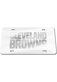 Cleveland Browns Frosted Team Name Car Accessory License Plate